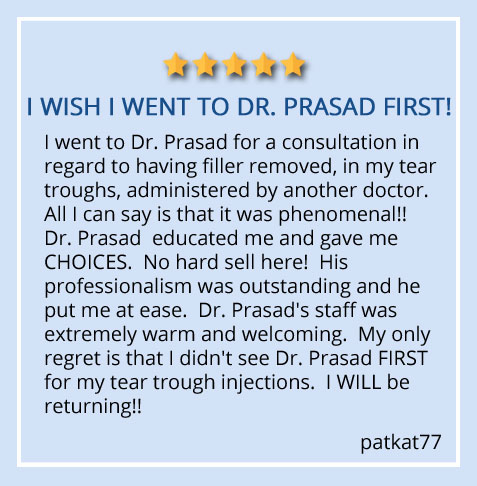 """patient review about Dr. Amiya Prasad """"His professionalism was outstanding and he put me at ease"""""""